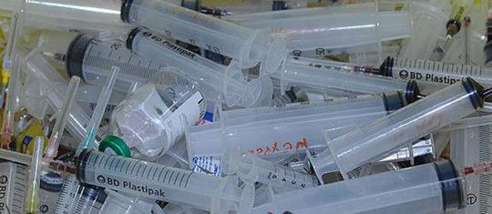élimination des déchets à risques infectieux